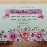 Dementia UK event coming up! Garden Cool Jazz!